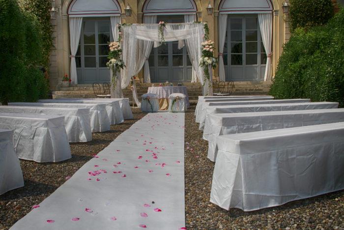 cerimonia in bianco