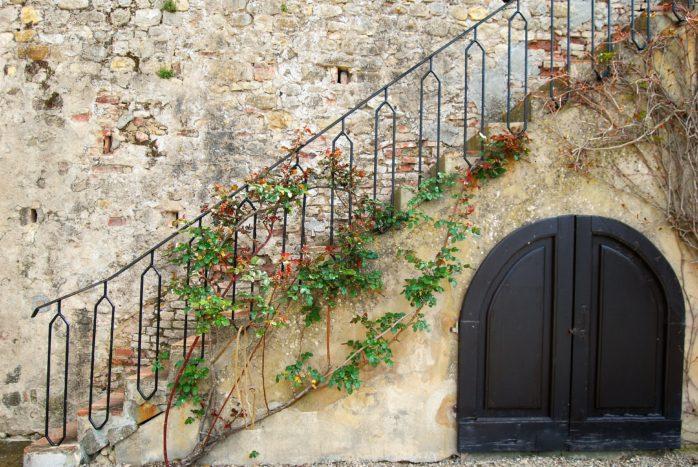 scalinata sul retro