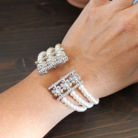 Bracciale armonico perle rosa