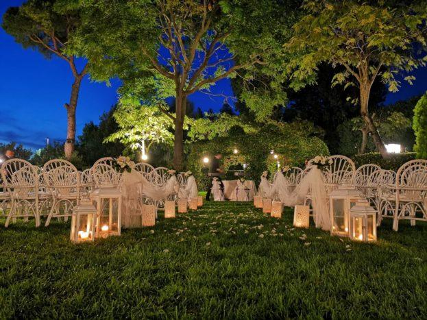 La cerimonia in giardino