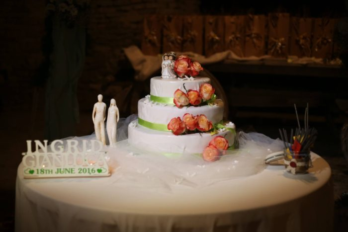 Wedding cake fiori veri