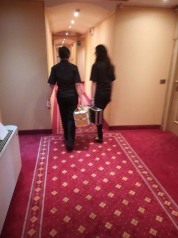 trasferta in hotel