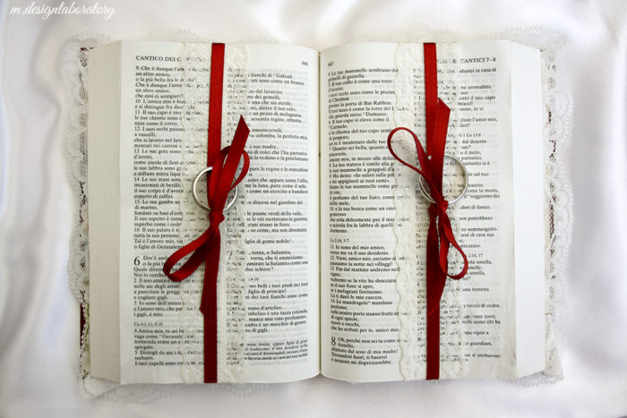creazione portafedi bibbia