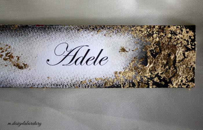 segnaposto foglia oro