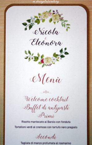 menu floreale