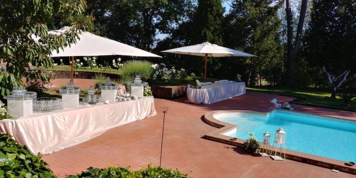 buffet zona piscina
