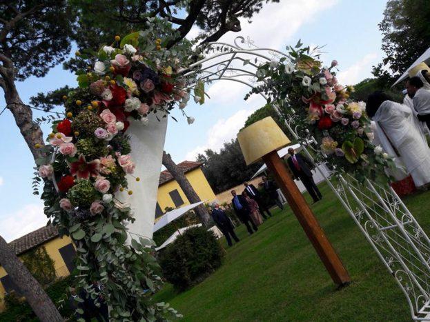 arco in giardino