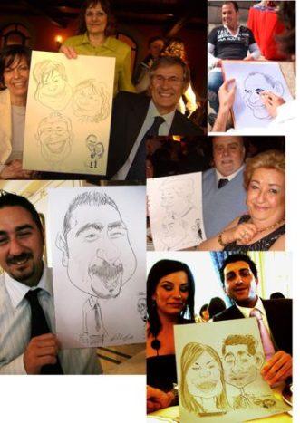 Caricature in 3 minuti
