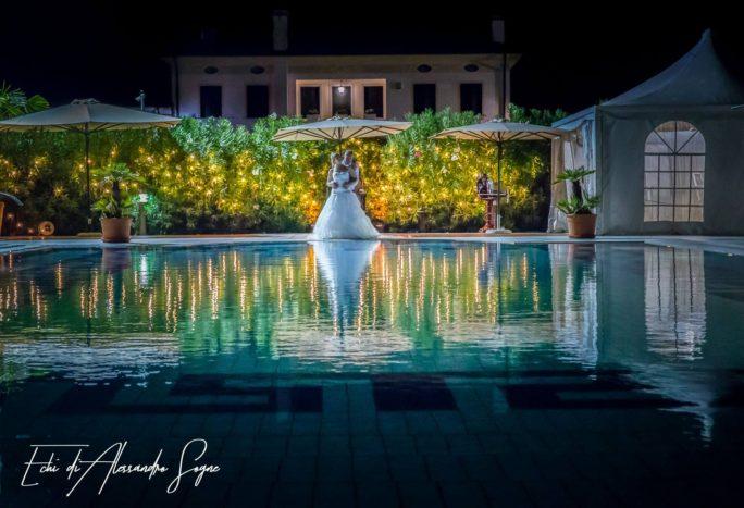 Foto in posa in piscina