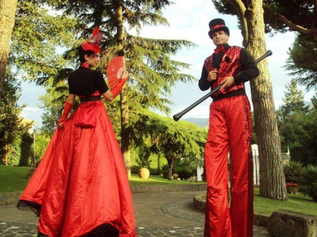 Trampolieri rossi