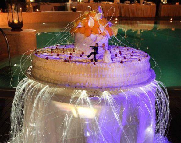 Wedding cake con fibre ottiche
