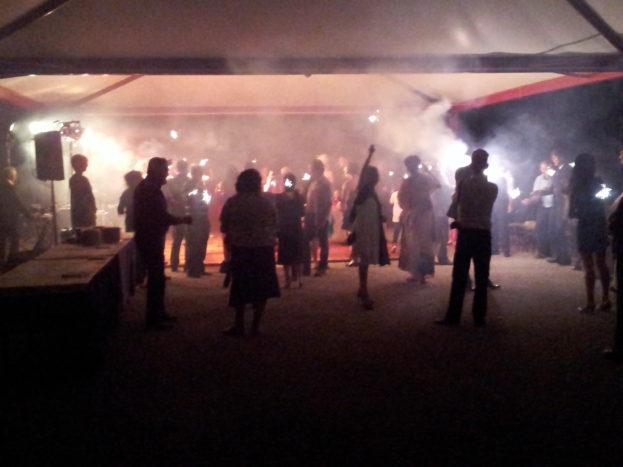 gazebo con Festa notturna