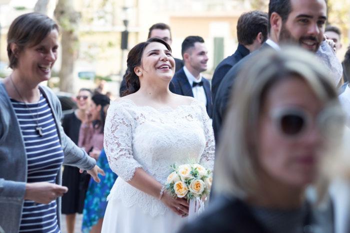 sposa emozionata