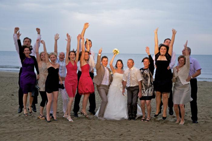 Gruppo in spiaggia