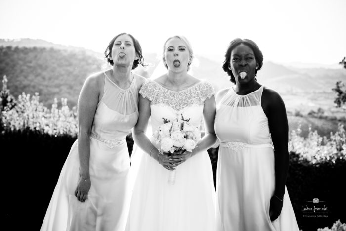 Brid & bridesmaids