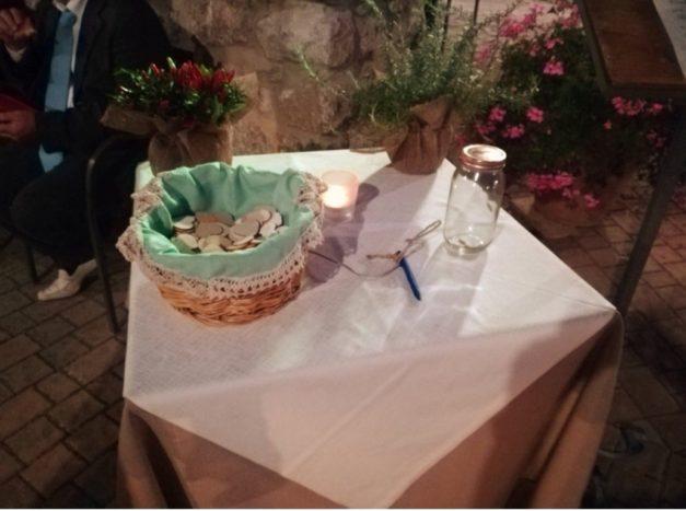 tavolo confetti