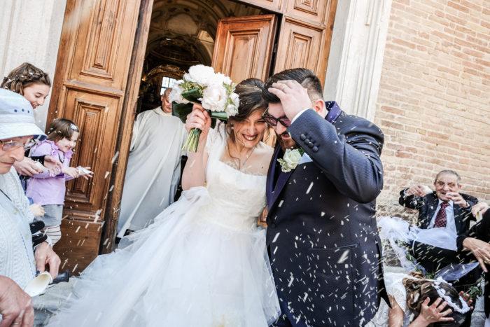 Alessio e Giulia all' uscita