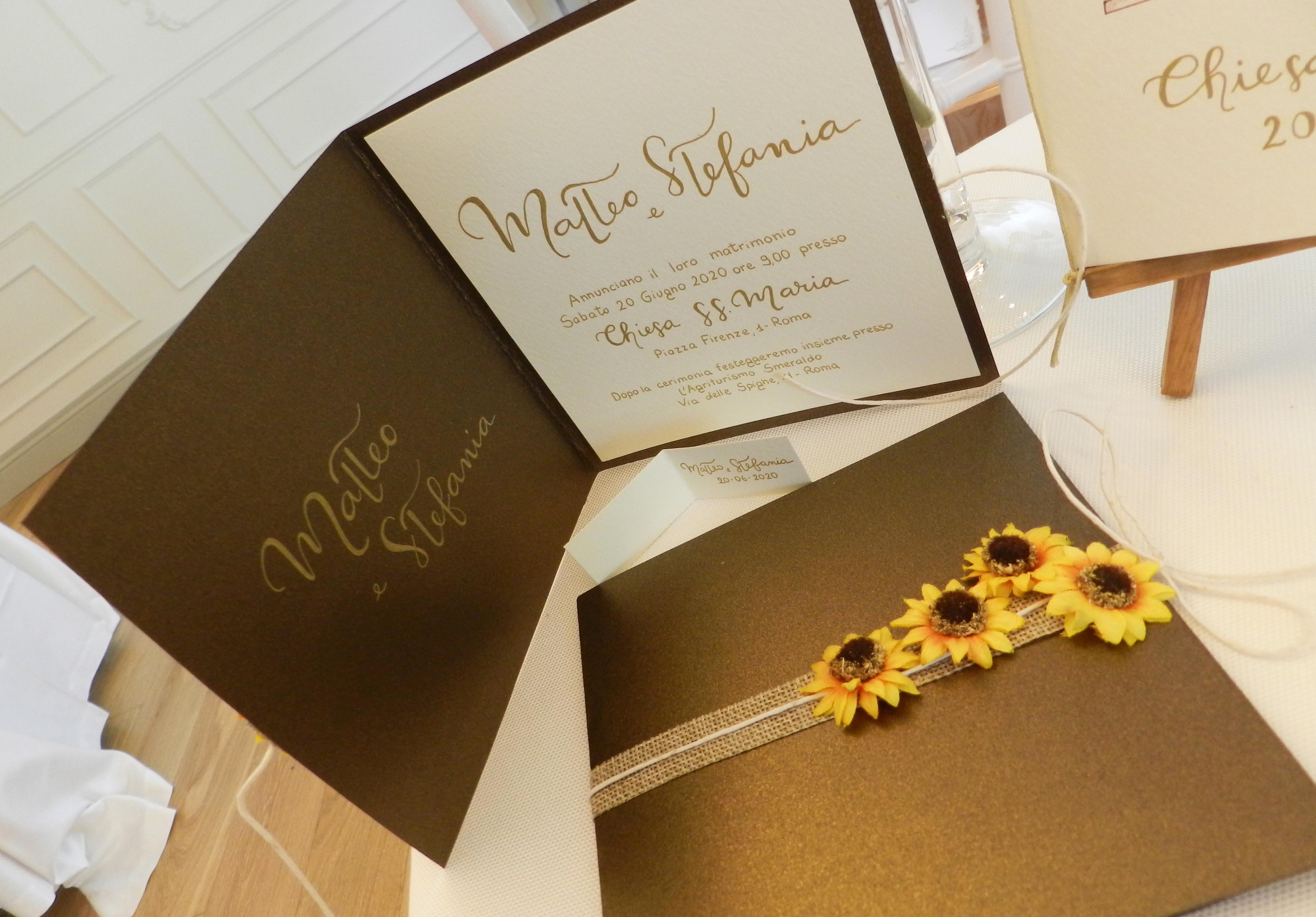 Inviti Matrimonio Girasoli : I girasoli lagigroup tipografia e stampa digitale online