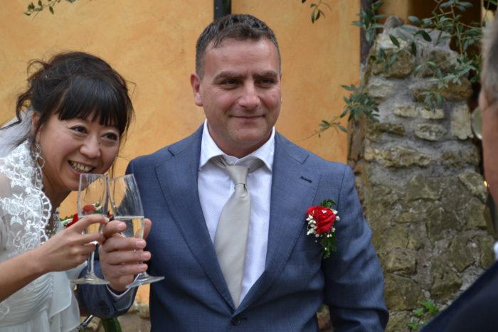la sposa dal Giappone a Roma
