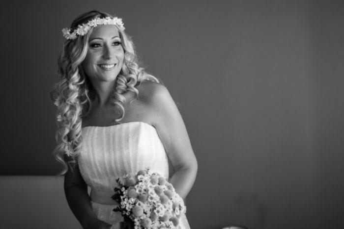 Ritratto di sposa in BN