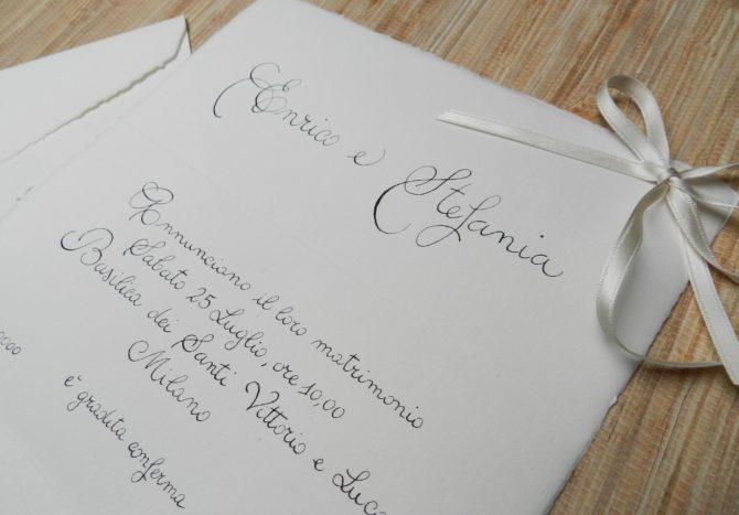 Invito scritto a mano