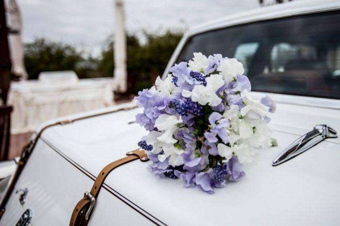 bouquet con lathyrus odoratus