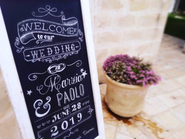 Wedding blackboard