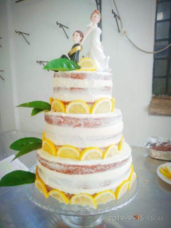 Naked cake limone