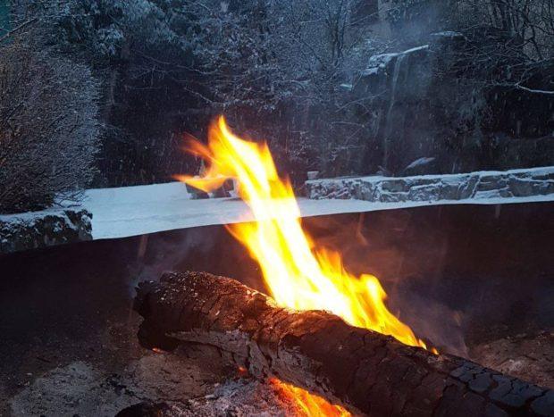 fuoco braciere esteno