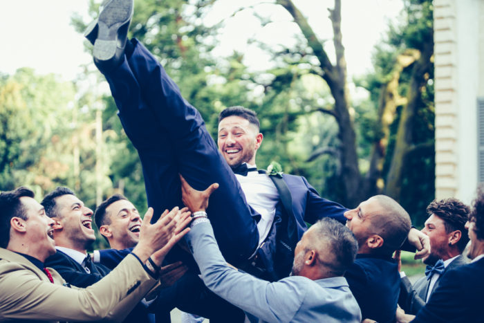 lancio dello sposo