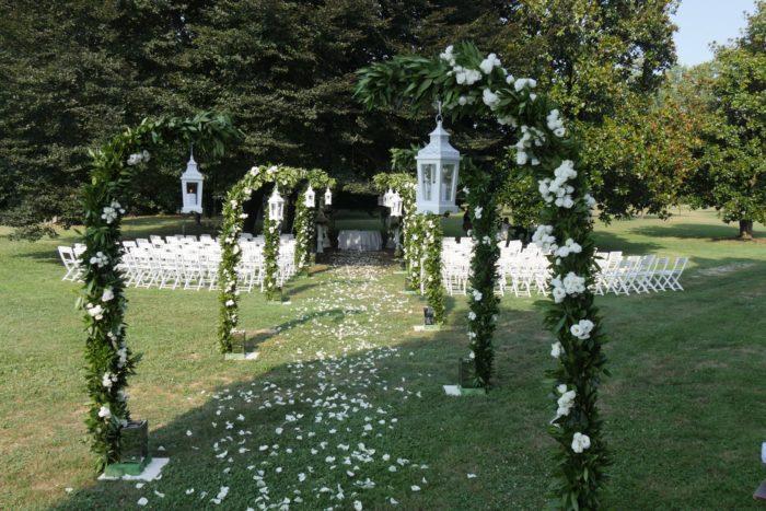 Matrimonio civile nel parco