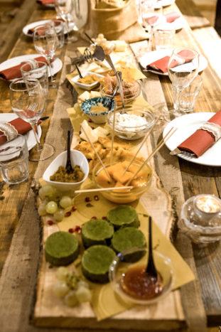 buffet sul tavolo