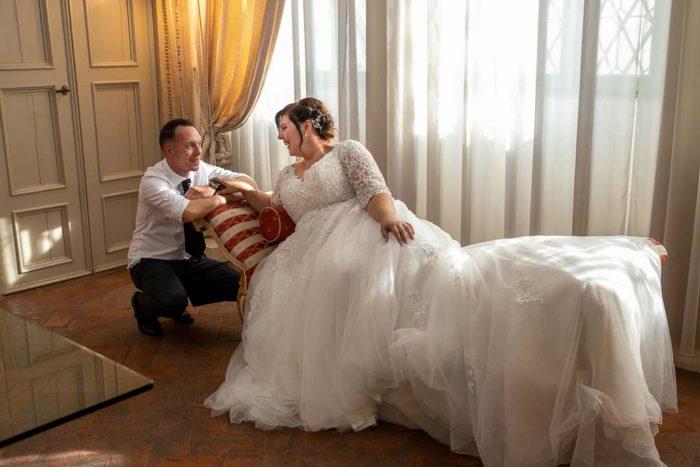 sposi Villa Vecelli Cavriani