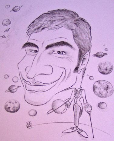 Caricatura a carboncino