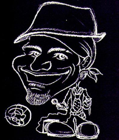 Caricatura fondo nero