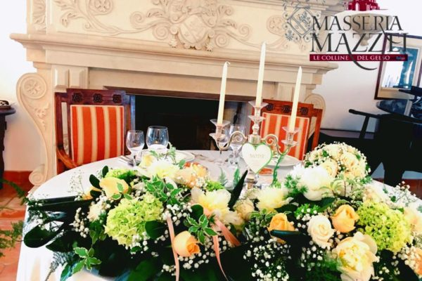 Particolare tavolo sposi
