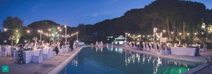 Matrimonio in piscina