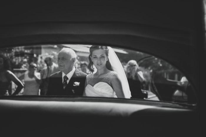 la sposa con il papà