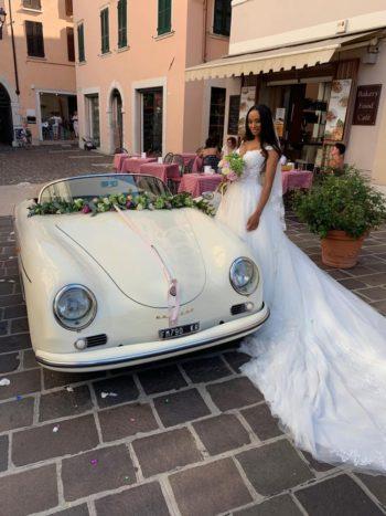 Arrivo sposa in Porsche