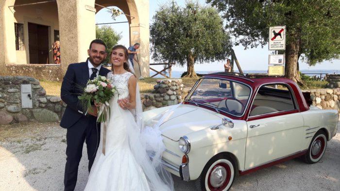 sposi in bianchina
