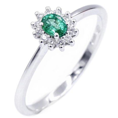 Anello diamanti e smeraldo