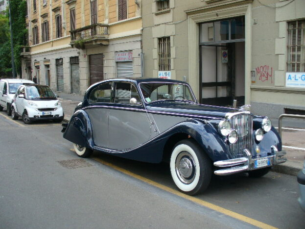 Jaguar MKV bicolore blu/argent