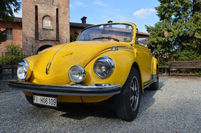 Maggiolone cabrio giallo