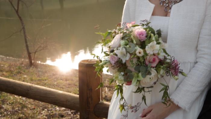 Bouquet con bagliore di luce