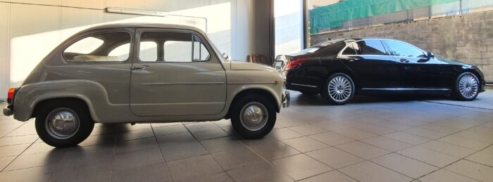 Fiat 600 + Mercedes S